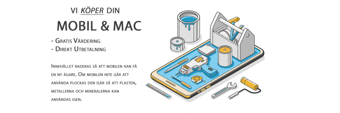 Vi köper din Mobil & Mac